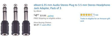 jackplug adapter